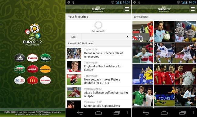 Euro 2012: l'applicazione ufficiale per Android