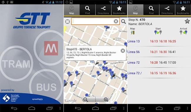 GTT Mobile, l'applicazione ufficiale del Gruppo Torinese Trasporti