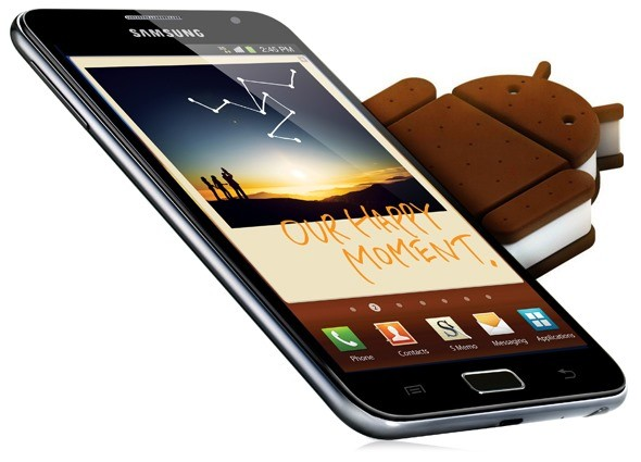 Iniziato ufficialmente il roll-out di Ice Cream Sandwich per Galaxy Note, si parte dalla Germania