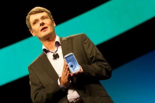 Thorsten Heins utilizza un Samsung Galaxy S III come secondo telefono