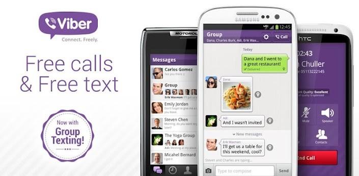 Viber si aggiorna e introduce i messaggi di gruppo, foto contatti e altre novità