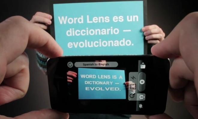 World Lens,  l'app che traduce il mondo anche per android