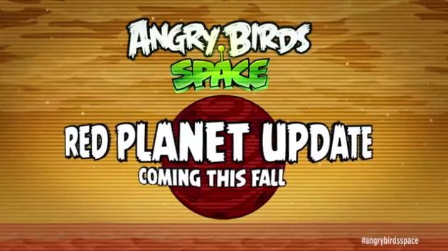 Angry Birds Space: in arrivo un update marziano