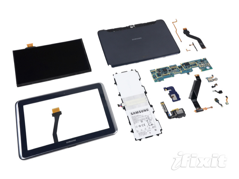 Galaxy Note 10.1 eccolo disassemblato