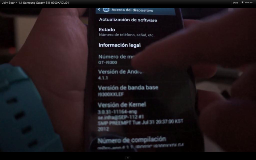 Primo video per Android 4.1.1 Jelly Bean ufficiale sul Galaxy S III