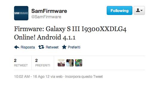 Firmware ufficiale Android 4.1.1 per Galaxy S III disponibile per il download [UPDATE: Nuovo aggiornamento OTA]