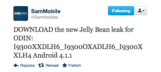 Nuovo firmware leaked per Galaxy S III I9300XXDLH6