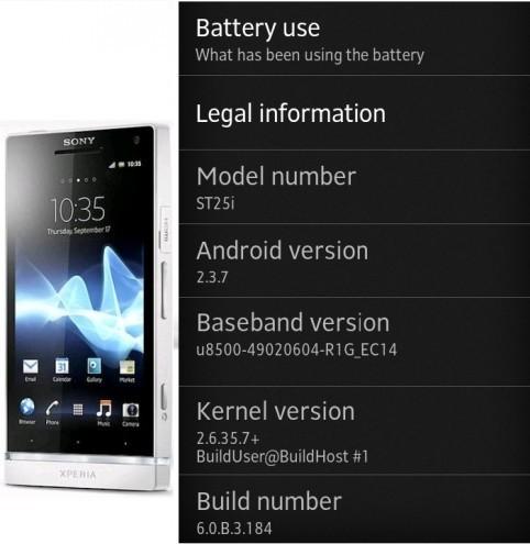 Nuovo aggiornamento disponibile per Sony Xperia U