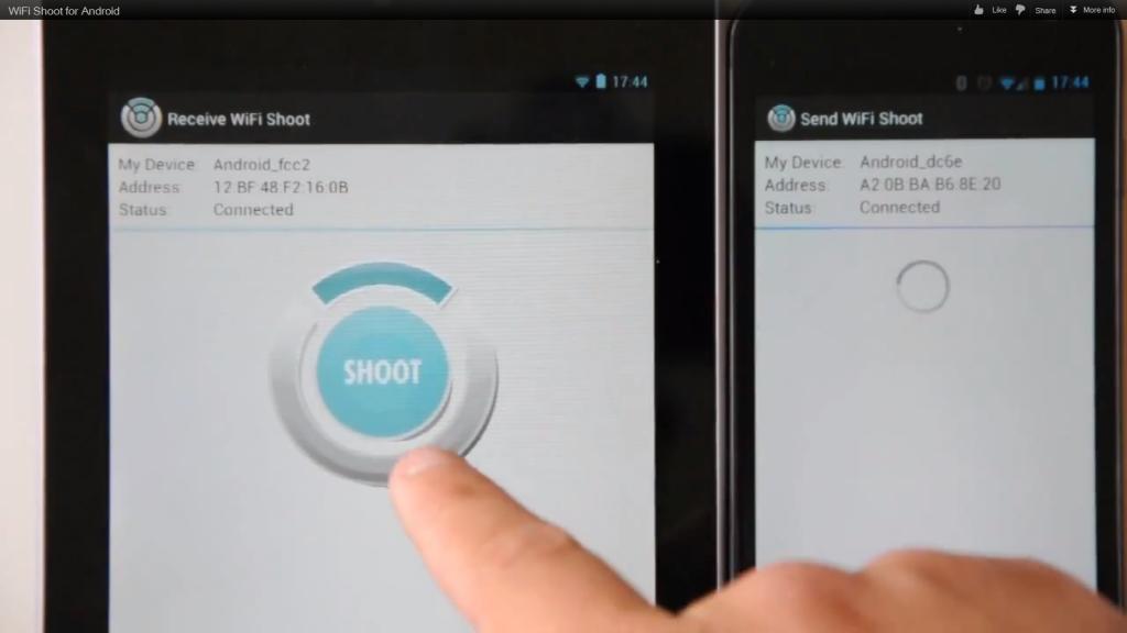WiFi Shot: Se il Bluetooth è lento, manda i tuoi file via WiFi