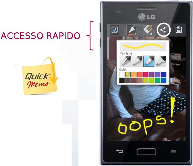 LG aggiorna i device della serie L introducendo QuickMemo