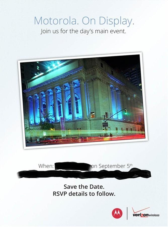 Motorola: prepara l'evento del 5 settembre nel quale presenterà il Razr HD