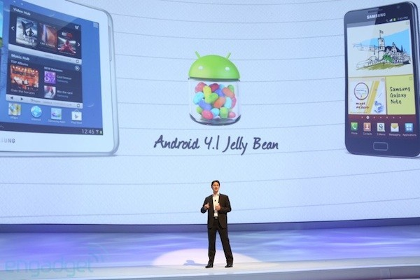 Jelly Bean arriverà presto su Galaxy S3 e Galaxy Note 10.1 [IFA 2012]