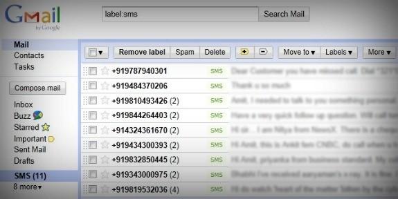 SMS Backup + per salvare i vostri SMS su Gmail