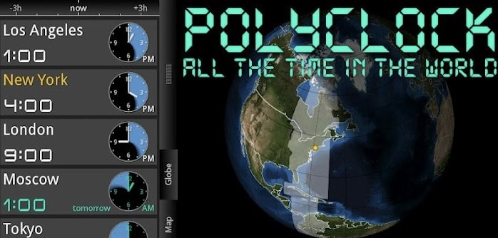 PolyClock World Clock gratis sull'Amazon App Store