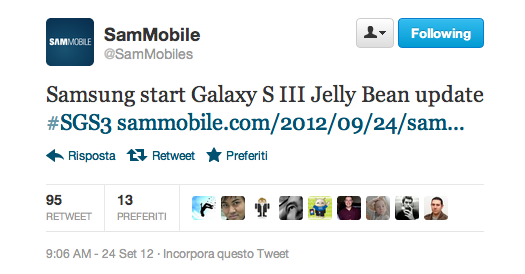 Samsung: iniziato il roll out di Android 4.1 Jelly Bean per Galaxy S III in Europa [DOWNLOAD + GUIDA]