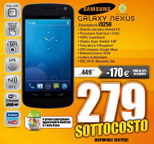 Samsung Galaxy Nexus a 279€ da Marco Polo (Milano, Roma, Potenza)