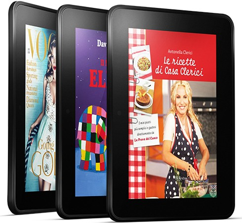 Amazon annuncia ufficialmente l'arrivo di Kindle Fire e Kindle Fire HD in Italia