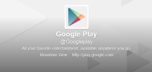 Google Play approda ufficialmente su Twitter