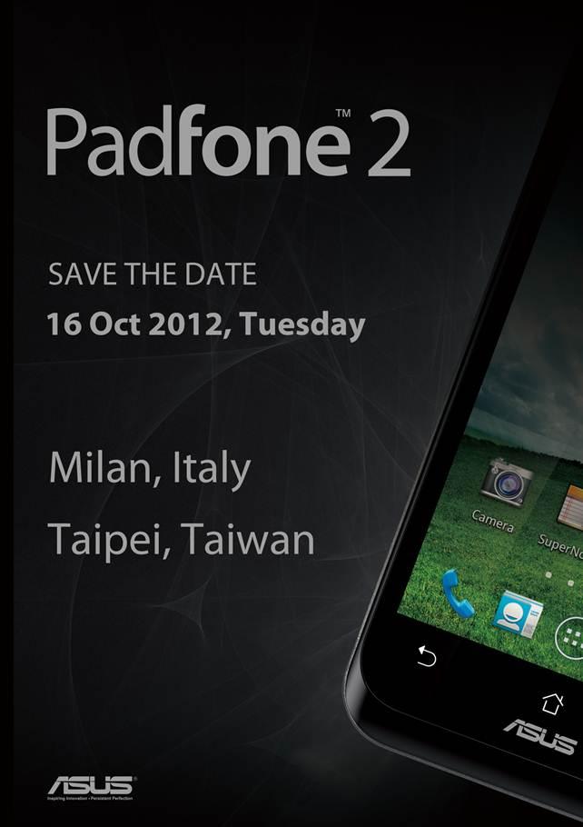 Asus presenterà il Padfone 2 il 16 Ottobre