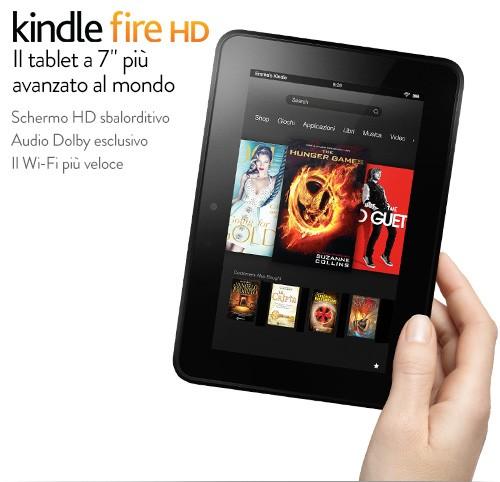 Niente rimozione della pubblicità sul Kindle Fire HD in Italia