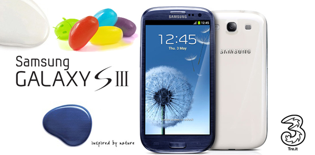 Iniziato il roll out di Android 4.1 Jelly Bean per il Galaxy S III con brand H3G