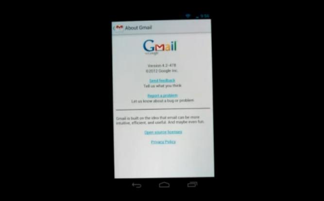 GMail per Android 4.2 Jelly Bean: ecco tutte le novità