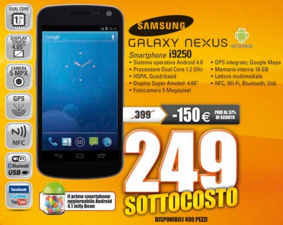 Samsung Galaxy Nexus a 249€ da Marco Polo a Corsico ed Arezzo