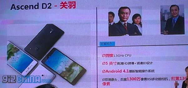 Huawei Ascend D2: Jelly Bean, display da 5 pollici e SoC quad-core