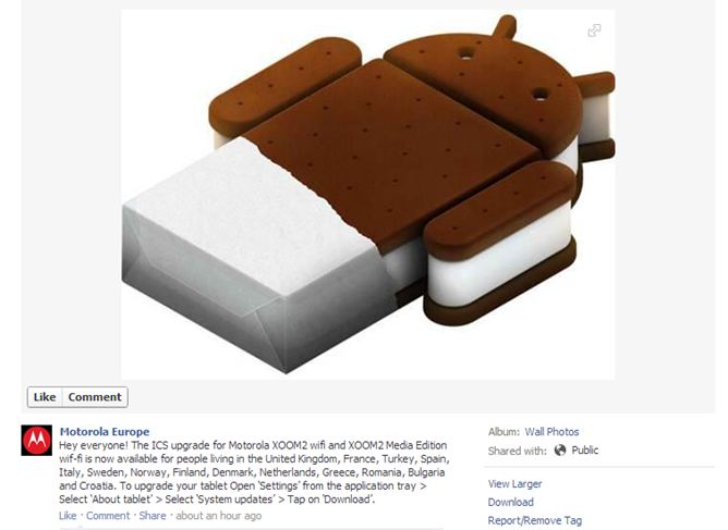 Motorola Xoom 2 & Xoom Family Edition: iniziato il roll-out di Ice Cream Sandwich