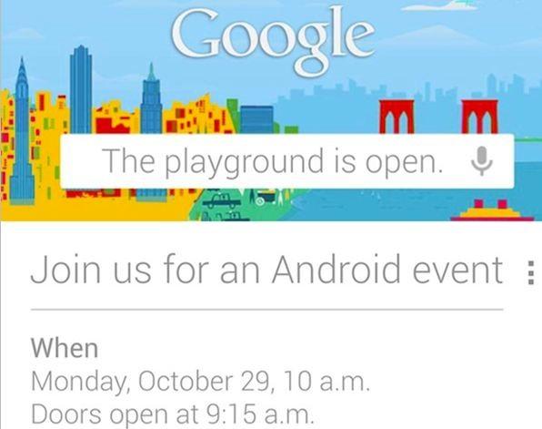 UFFICIALE: Google prepara un evento per il 29 Ottobre!