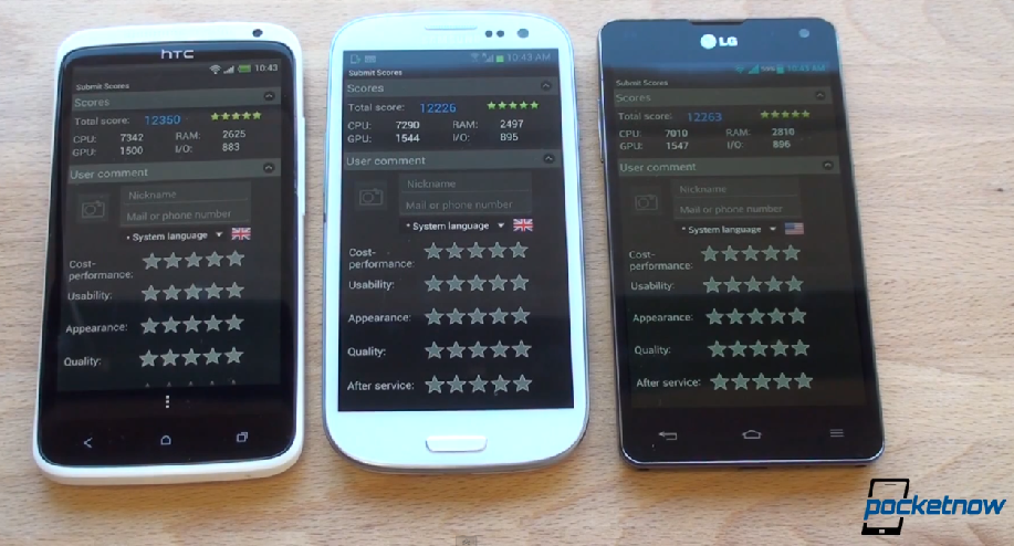 Exynos 4412 vs Snapdragon S4 Pro vs Tegra 3: sfida benchmark