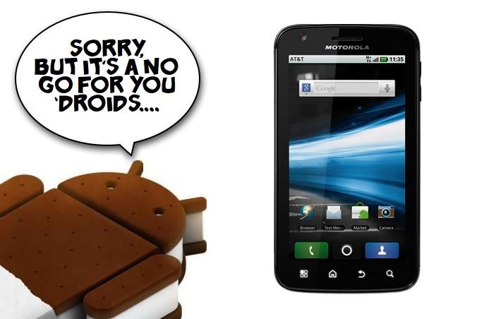 Motorola Atrix non riceverà Android 4.0 Ice Cream Sandwich