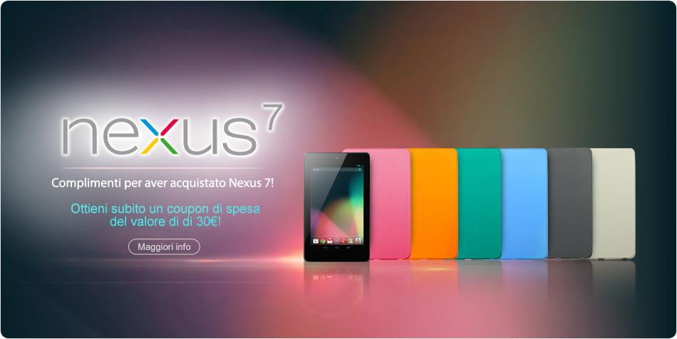 ASUS regala 30€ di coupon a chi ha acquistato il Nexus 7 16GB a 249€