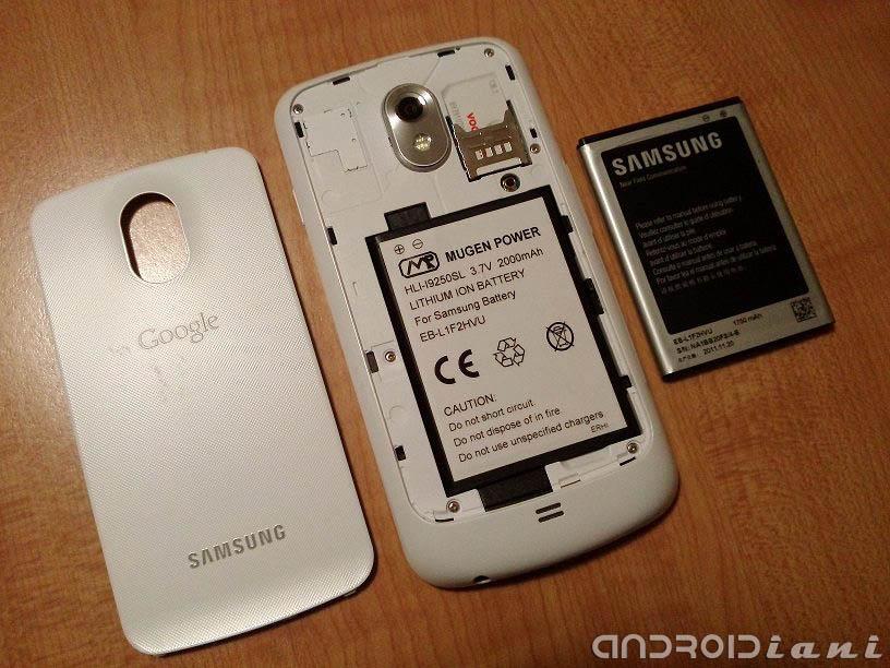 Batteria Mugen da 2000 mAh per Galaxy Nexus: la recensione di Androidiani.com