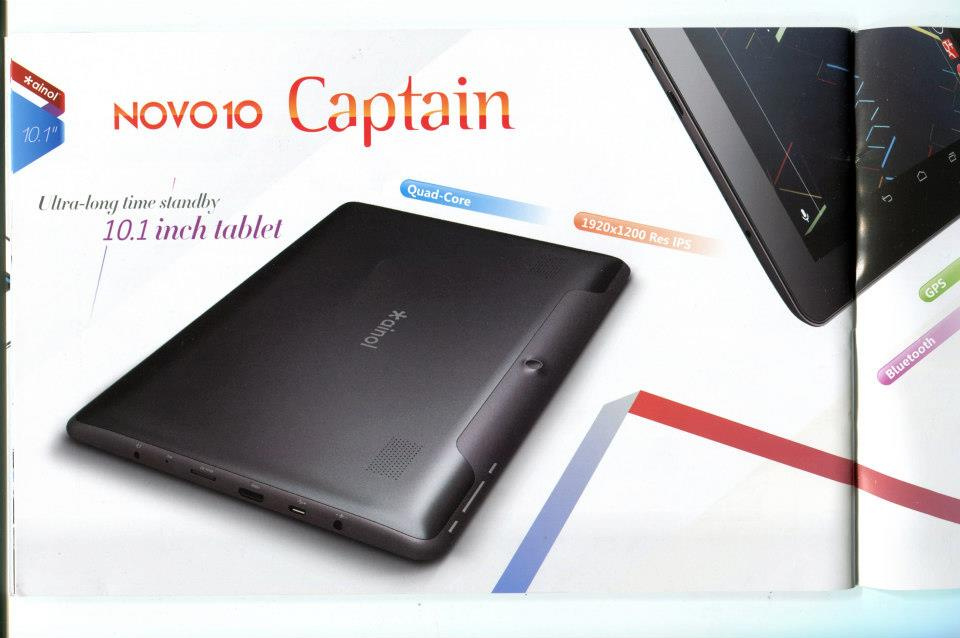 Ainol Novo 10 Captain: tablet quad-core e full HD in prevendita