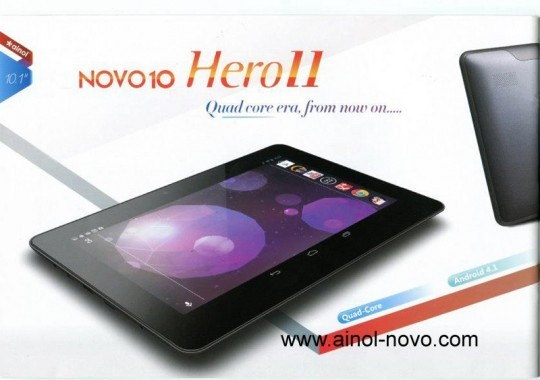 Ainol Nova 10 Hero II: tablet quad-core con Android 4.1 a 210$