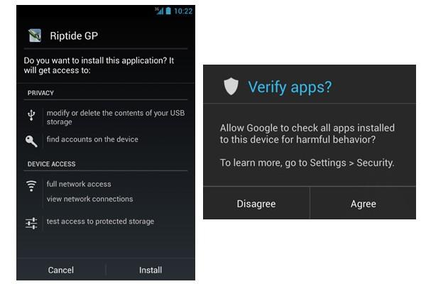 Android 4.2 include un sistema di scansione delle app di terze parti