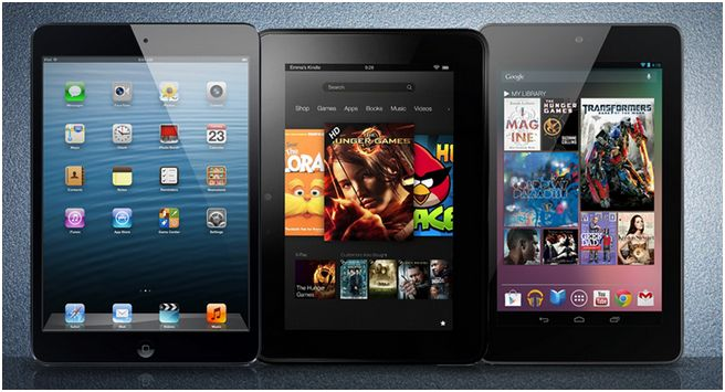 Nexus 7 vs Kindle Fire HD vs iPad Mini: confronto display