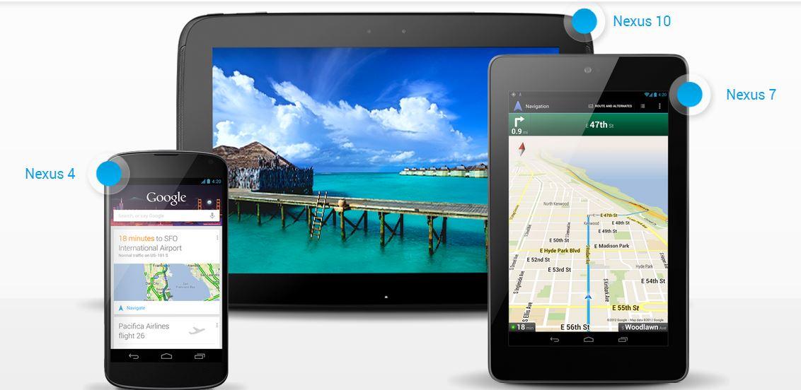 Nexus 4 e Nexus 10: ecco tantissimi test benchmark