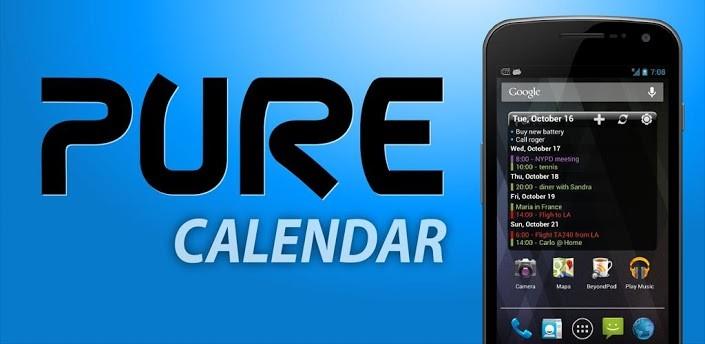 Pure Calendar Widget si aggiorna con il supporto ad Android 4.2