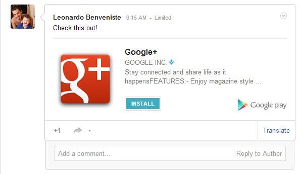 Ora è possibile installare applicazioni direttamente da Google+