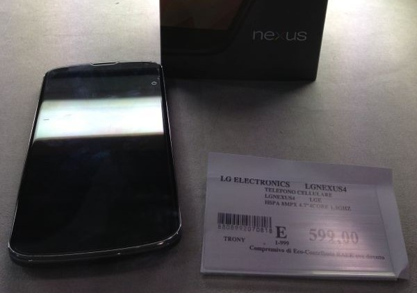 Nexus 4 disponibile da Trony a Macerata