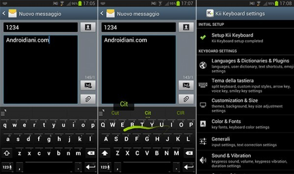Kii Keyboard: un'interessante tastiera alternativa per dispositivi Android