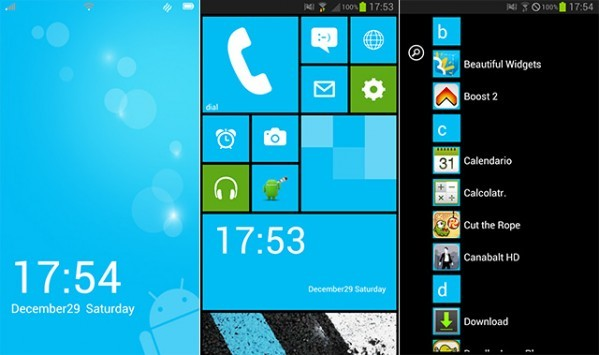 Launcher 8, e trasformi Android in Windows Phone 8