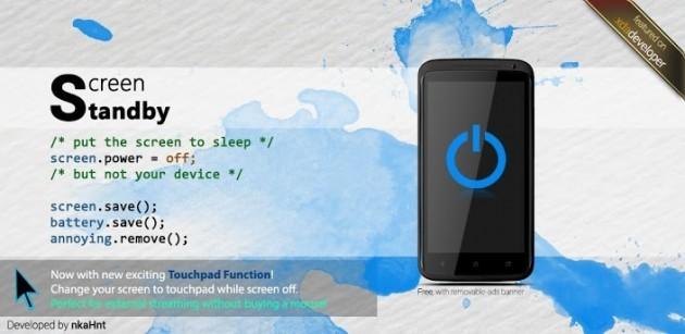Screen Standby, e spegni lo schermo di un dispositivo evitando la sleep mode