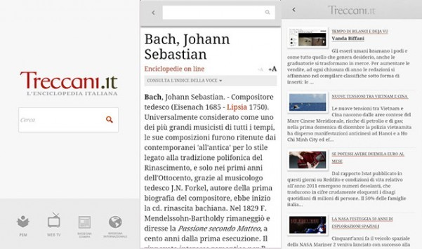 L'Enciclopedia Treccani sempre a portata di mano con l'app per Android