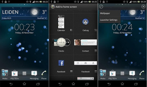 Xperia Launcher disponibile per tutti i dispositivi ICS o superiori