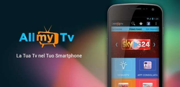 AllMyTv: guardare la TV su Android