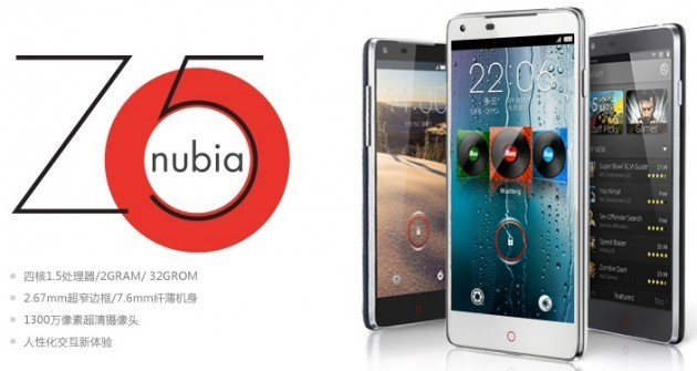 ZTE svela Nubia Z5: display da 5