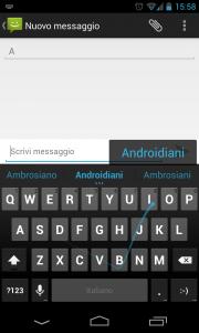 Tastiera Nexus 4